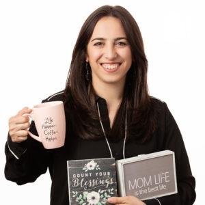 Isabella with coffee mug