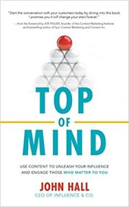 The cover of the marketing strategy book Top of Mind is pictured here.
